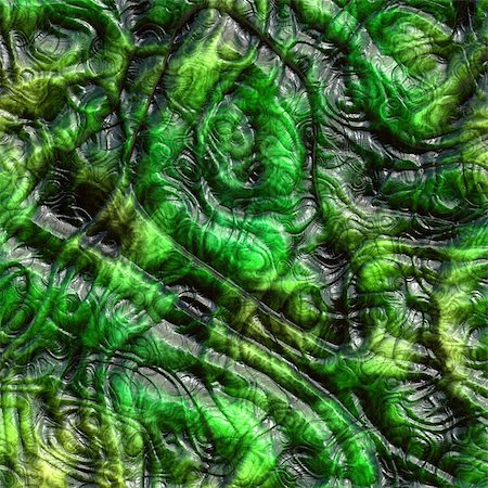 snake skin - Computer generated illustration of wrinkled green lizard skin Stock Photo - Budget Royalty-Free & Subscription, Code: 400-05043308