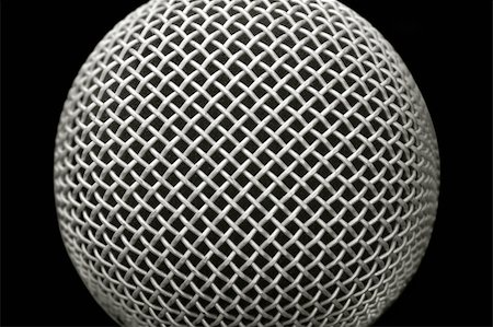 abstract close-up of a studio microphone on black Stock Photo - Budget Royalty-Free & Subscription, Code: 400-05057225