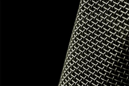 microphone macro abstract on black Stock Photo - Budget Royalty-Free & Subscription, Code: 400-05057228