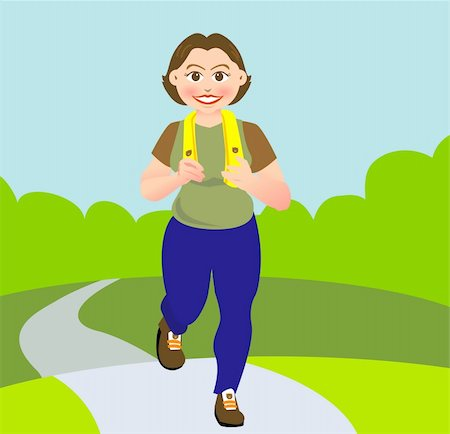 sweaty woman - a woman is jogging in a garden or park, Stock Photo - Budget Royalty-Free & Subscription, Code: 400-05057973