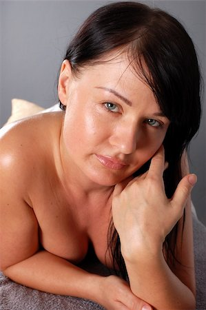 attractive brunette woman Stock Photo - Budget Royalty-Free & Subscription, Code: 400-05058789