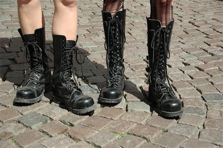 skinhead - Two girls in boots Stock Photo - Budget Royalty-Free & Subscription, Code: 400-05053461