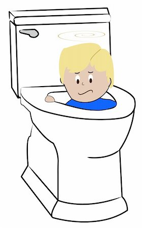 young child being flushed down the toilet - bad behaviour Stock Photo - Budget Royalty-Free & Subscription, Code: 400-05068359