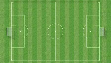 aerial view of a soccer field -3d rendering Stock Photo - Budget Royalty-Free & Subscription, Code: 400-05069233