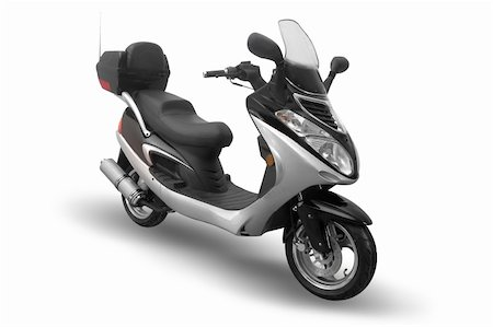 sports scooters - Moped isolated on a white background Stock Photo - Budget Royalty-Free & Subscription, Code: 400-05074726