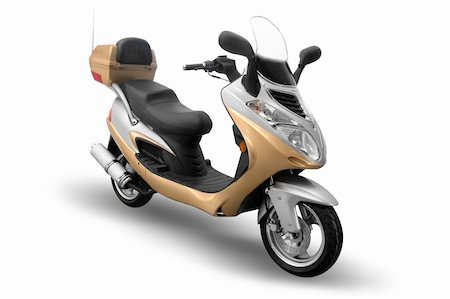 sports scooters - Moped isolated on a white background Stock Photo - Budget Royalty-Free & Subscription, Code: 400-05074727
