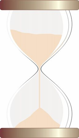 sand clock - ilustration of isolated hourglass Stock Photo - Budget Royalty-Free & Subscription, Code: 400-05076727