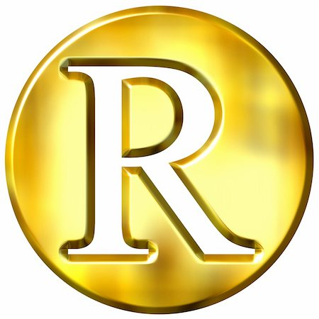 fancy letters - 3d golden letter R isolated in white Stock Photo - Budget Royalty-Free & Subscription, Code: 400-05072896