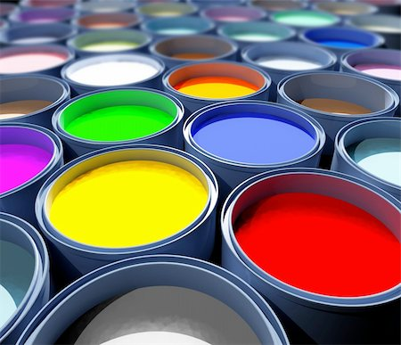 pouring paint art - color paint tank, abstract background Stock Photo - Budget Royalty-Free & Subscription, Code: 400-05073227