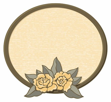 rose flower in oval vector - Decorative oval frame with roses in sepia tones. Stock Photo - Budget Royalty-Free & Subscription, Code: 400-05073467