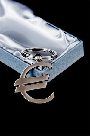 silver box - euro currency symbol with box isolated on black Stock Photo - Budget Royalty-Free & Subscription, Code: 400-05098040