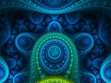 pinball - Fancy blue abstract jewel. Stock Photo - Budget Royalty-Free & Subscription, Code: 400-05093639