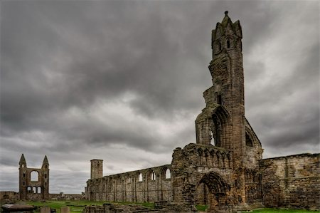 A view of the St Andrews cathedral ruins, Scotland Stock Photo - Budget Royalty-Free & Subscription, Code: 400-05093815
