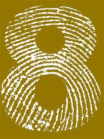 pokerman (artist) - Fingerprint Number - 8 (Highly detailed grunge Number) Stock Photo - Budget Royalty-Free & Subscription, Code: 400-05108353