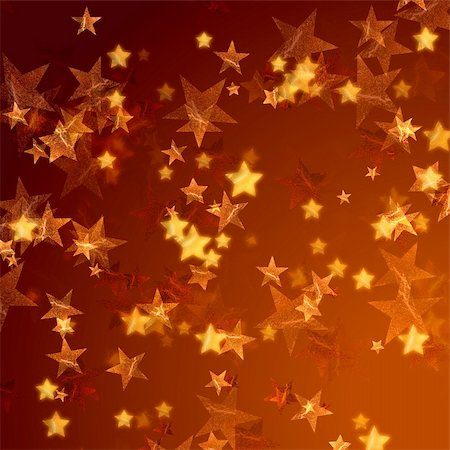 red colour background with white fireworks - golden stars over gold background with feather corner Stock Photo - Budget Royalty-Free & Subscription, Code: 400-05108970