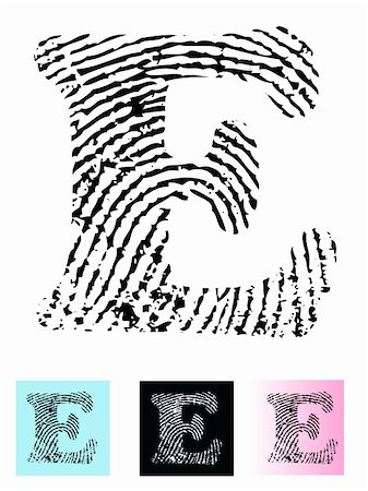 pokerman (artist) - Fingerprint Alphabet Letter E (Highly detailed Letter - transparent so can be overlaid onto other graphics) Stock Photo - Budget Royalty-Free & Subscription, Code: 400-05119310