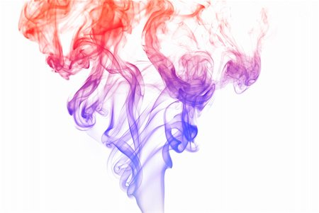 Colorful smoke curves isolated on white background Stock Photo - Budget Royalty-Free & Subscription, Code: 400-05119488
