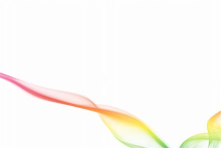 Colorful smoke curves isolated on white background Stock Photo - Budget Royalty-Free & Subscription, Code: 400-05119494