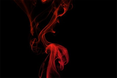 Colored smoke curves isolated on black background Stock Photo - Budget Royalty-Free & Subscription, Code: 400-05119510