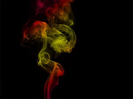 Colored smoke curves isolated on black background Stock Photo - Budget Royalty-Free & Subscription, Code: 400-05119512