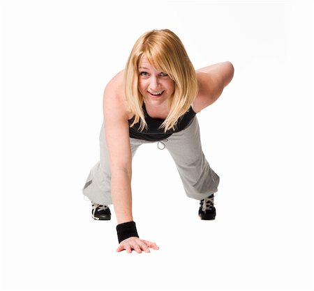 sweaty woman - Woman working out Stock Photo - Budget Royalty-Free & Subscription, Code: 400-05112688