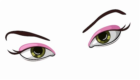 face woman beautiful clipart - Vector illustration of beautiful female eyes Stock Photo - Budget Royalty-Free & Subscription, Code: 400-05124062