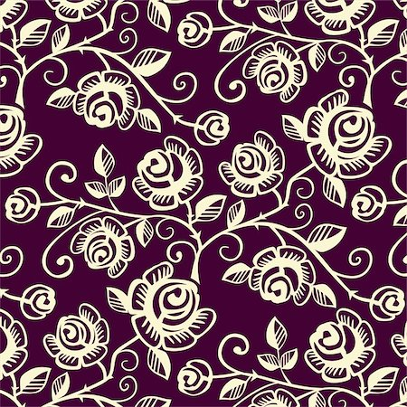 Flower seamless pattern, full scalable vector graphic included Eps v8 and 300 dpi JPG. Stock Photo - Budget Royalty-Free & Subscription, Code: 400-05124451