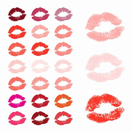 simsearch:400-04801287,k - Lips, kiss colored Stock Photo - Budget Royalty-Free & Subscription, Code: 400-05122673