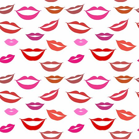 Seamless background lips, smiles Stock Photo - Budget Royalty-Free & Subscription, Code: 400-05122684