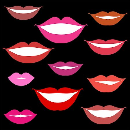 Smiles, lips background Stock Photo - Budget Royalty-Free & Subscription, Code: 400-05122683