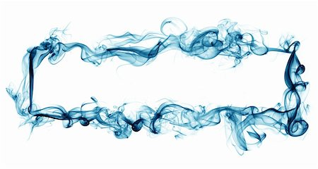 smoke magic abstract - smoky frame isolated on white Stock Photo - Budget Royalty-Free & Subscription, Code: 400-05123450