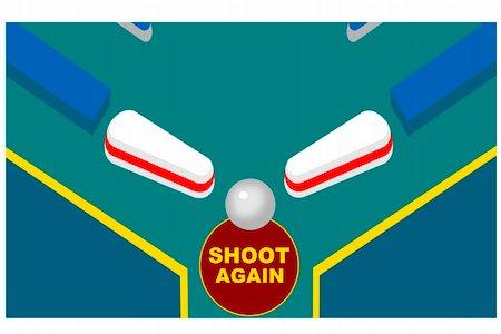 pinball - A clos up of a pinball machine Stock Photo - Budget Royalty-Free & Subscription, Code: 400-05123780