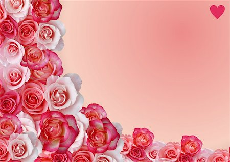 Abstract border, flowers, roses background Stock Photo - Budget Royalty-Free & Subscription, Code: 400-05134696