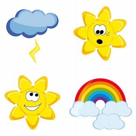 Fanny shiny weather icons Stock Photo - Budget Royalty-Free & Subscription, Code: 400-05135347