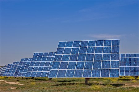 Solar panels in the power plant for renewable energy Stock Photo - Budget Royalty-Free & Subscription, Code: 400-05135588