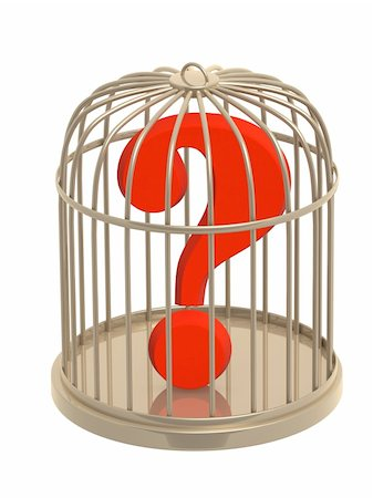 question mark crime - Question mark of red color in cage Stock Photo - Budget Royalty-Free & Subscription, Code: 400-05136248