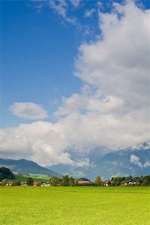 Saalfelden, beautiful town in Zell am See, Salzburg, Austria Stock Photo - Budget Royalty-Free & Subscription, Code: 400-05136426