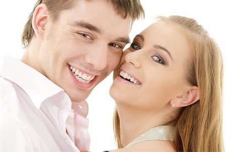 picture of couple in love over white Stock Photo - Budget Royalty-Free & Subscription, Code: 400-05136781