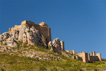 Loarre´s castle, Huesca (Spain) Stock Photo - Budget Royalty-Free & Subscription, Code: 400-05139585