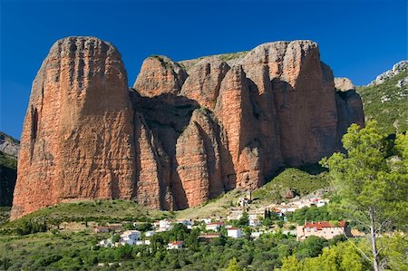 Village of Riglos, Huesca (Spain) Stock Photo - Budget Royalty-Free & Subscription, Code: 400-05139586