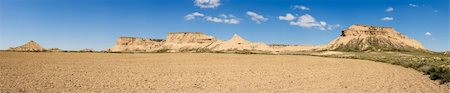 Panoramic of the Bardenas Reales, Navarra (Spain) Stock Photo - Budget Royalty-Free & Subscription, Code: 400-05131787