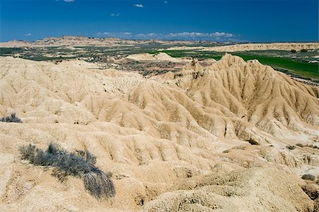 Desert of the Bardenas Reales, Navarra (Spain) Stock Photo - Budget Royalty-Free & Subscription, Code: 400-05131788