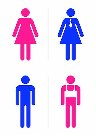 Joke toilet signs for gay bar. Vector. Stock Photo - Budget Royalty-Free & Subscription, Code: 400-05145540