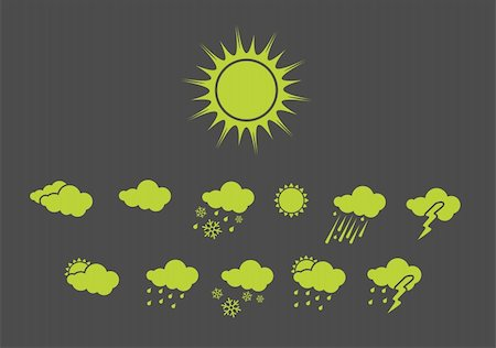 Vector illustration ? set of elegant Weather Icons for all types of weather Stock Photo - Budget Royalty-Free & Subscription, Code: 400-05148218