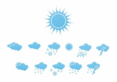 Vector illustration ? set of elegant Weather Icons for all types of weather Stock Photo - Budget Royalty-Free & Subscription, Code: 400-05148219
