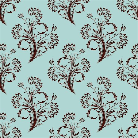 simsearch:400-04744132,k - Seamless floral background. Vector illustration. Abstract pattern. Stock Photo - Budget Royalty-Free & Subscription, Code: 400-05140810
