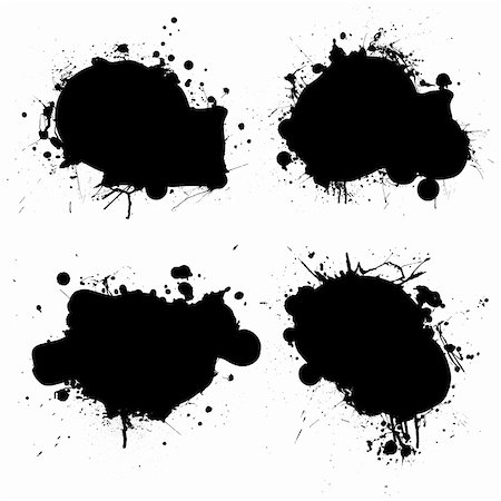 splat - black and white ink splat icon with room to add your own text Stock Photo - Budget Royalty-Free & Subscription, Code: 400-05143783