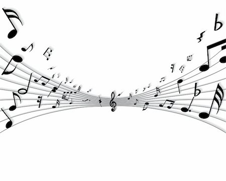 simsearch:400-05714680,k - Vector musical notes staff background for design use Stock Photo - Budget Royalty-Free & Subscription, Code: 400-05155005