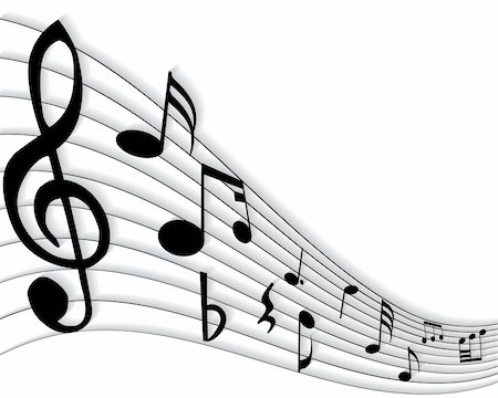 simsearch:400-05714680,k - Vector musical notes staff background for design use Stock Photo - Budget Royalty-Free & Subscription, Code: 400-05155006