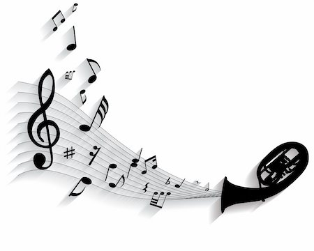 simsearch:400-05714680,k - Vector musical notes staff background for design use Stock Photo - Budget Royalty-Free & Subscription, Code: 400-05155002